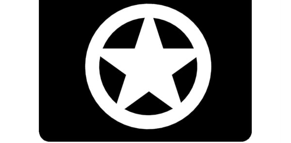 Texas star in Circle on Mud Flap