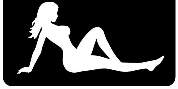 Naked Lady Silhouette leaning back